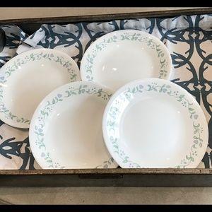 Corelle Country Cottage Bread Plates (4) EUC